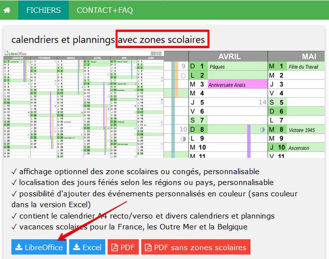 Calendrier Libre Office.Libreoffice Circonscription La Rochelle Sud