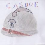 Un casque de soldat