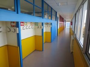 Le couloir sud, à l'étage.