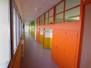 Le couloir nord, à l'étage.